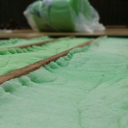 polyester insulation installed on the floor